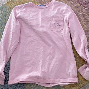 Pink long sleeve vineyard vines T-shirt